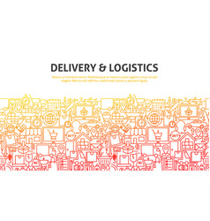 Delivery logistics concept vector