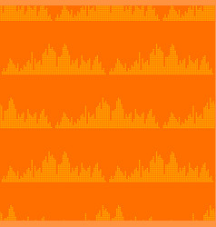Digital music equalizer audio waves vector