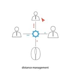 Distance management vector image