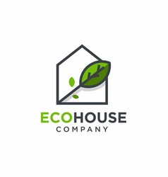 eco house logo design vector image