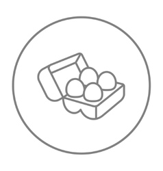 Eggs in carton package line icon vector image