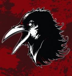 Evil crow vector