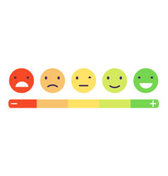 feedback emotion scale customers feedback vector image