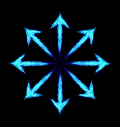 Fire arrows vector image vector image