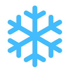flat snowflake low temperature sign vector image