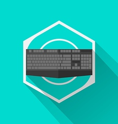 Gaming Gear Flat Icon Keyboard vector image