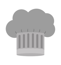gray scale silhouette of chefs hat with details vector image