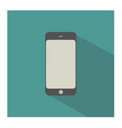 Green smartphone vector
