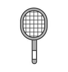 Grey sport racket cartoon vector