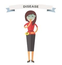 Illness girl vector