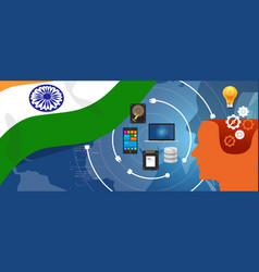 India it information technology digital vector