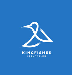 Kingfisher bird abstract icon label vector