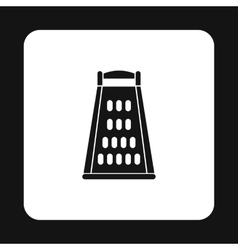 Kitchen grater icon simple style vector