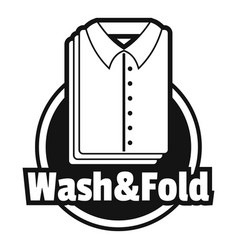 laundry shirt wash and fold logo simple style vector image