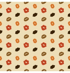 Lips Seamless Pattern vector image