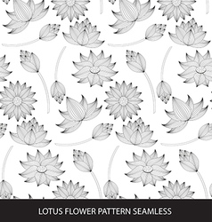 Lotus flower seamless pattern vector