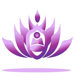 Lotus yoga logo vector image