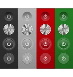 mac buttons vector image