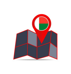 Map icon madagascar is isolated vector