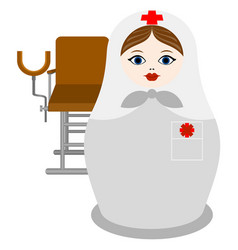 Matryoshka gynecologist vector