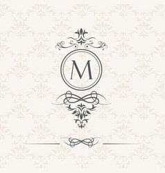 Monogram design elements vector
