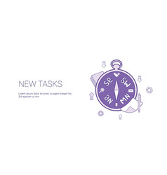 New task scheduling template web banner with copy vector