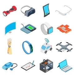 New technology icons set vector