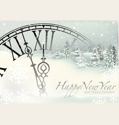 New year winter background vector