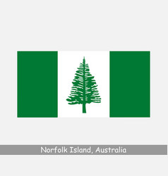 Norfolk island australia flag australian territory vector