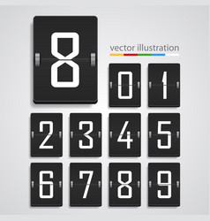 numeric scoreboard vector image