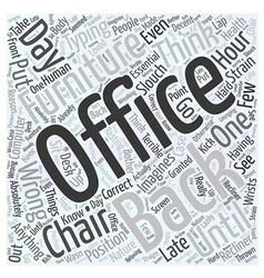 Office furniture chair Word Cloud Concept vector