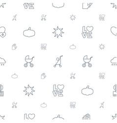 Orange icons pattern seamless white background vector