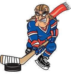 pilot sports logo mascot hockey vector image