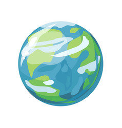 planet earth icon vector image