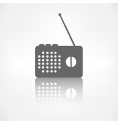 Radio web icon vector image