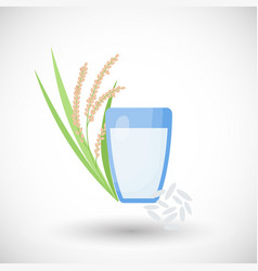 rice milk flat icon vector image