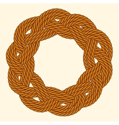 Rope decorative round frame vector