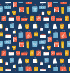 sale shopping bags seamless pattern for retail vector image