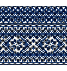 Seamless pattern on wool knitted texture vector