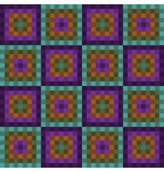 seamless pattern with purple and green squares vector image