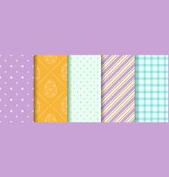 Set easter seamless patterns pattern design vector