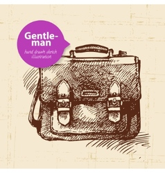 Sketch gentlemen accessory vector image