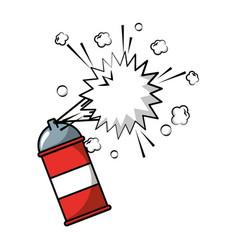 spray canister paint artistic creativity vector image