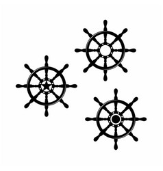 Steering wheel for boat ship yacht compass vector