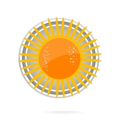 sun symbol yellow color on the white vector image