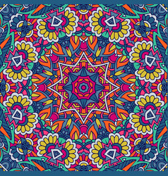 Tribal indian festive colorful mandala pattern vector