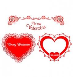 valentine retro hearts vector image