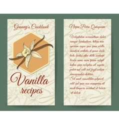 Vanilla brochure design template with aroma vector image