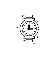 watch icon design vector image