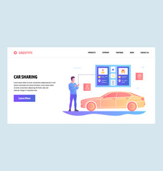 Web site gradient design template car vector